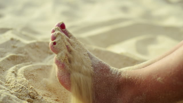 toes in the sand - toe stock videos & royalty-free footage
