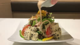 tofu salad in japanese style