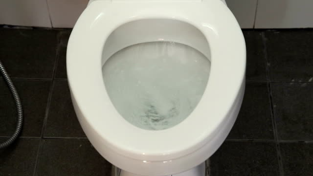 Toilet Flushing Water Video HD.