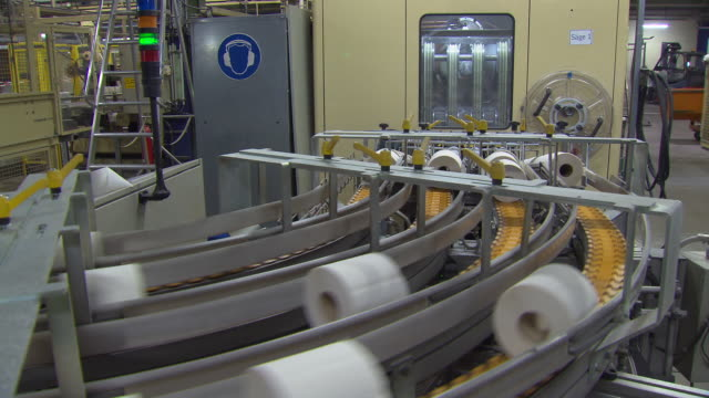 toilet paper production - industrial equipment stock videos & royalty-free footage