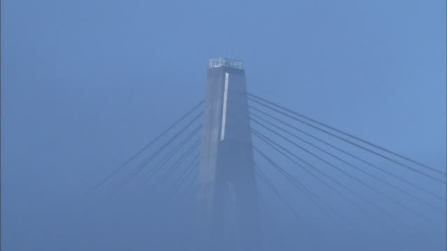 tokachi chuo-ohashi bridge in mist - 深い雪点の映像素材/bロール