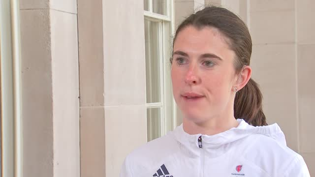 tokyo 2021 olympic games: team gb uniforms and kit revealed; england: ext olivia breen setup shots and interview sot - itv london tonight stock videos & royalty-free footage