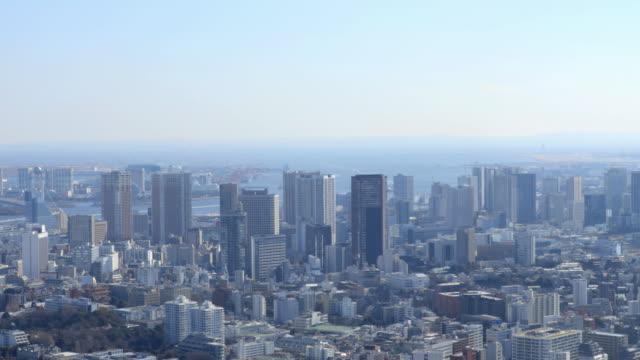 vídeos de stock, filmes e b-roll de tokyo aerial - plano geral tipo de composição de filme