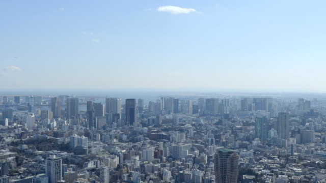 tokyo aerial - オフィスビル点の映像素材/bロール