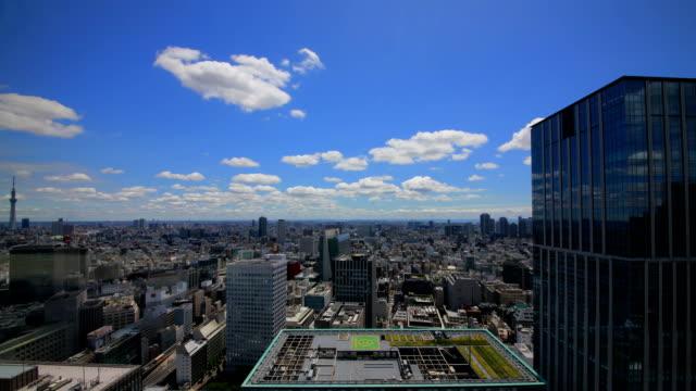 tokyo airial skyline time laps video - marunouchi stock videos & royalty-free footage