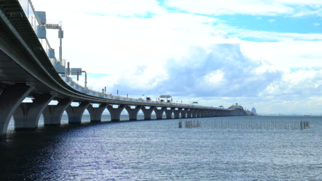 tokyo aqua-line (trans tokyo bay highway) - plusphoto stock videos & royalty-free footage