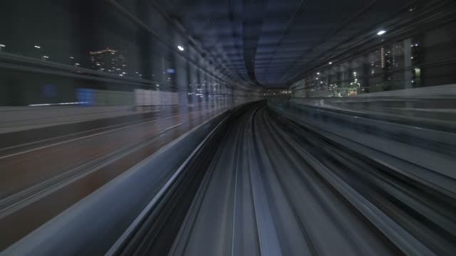 tokyo automated train 4k 60p time lapse - high speed train stock videos & royalty-free footage
