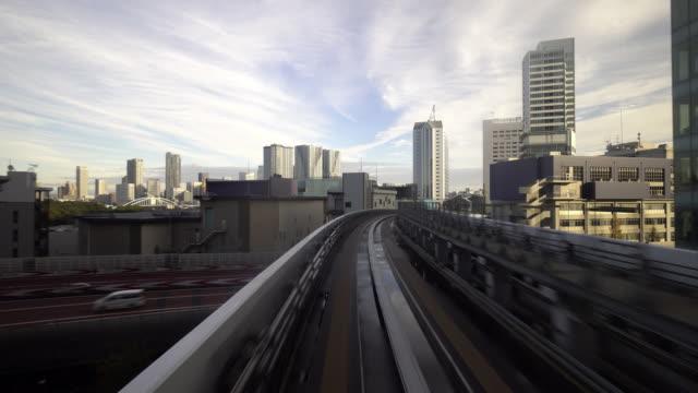 東京自動列車動き - モノレール点の映像素材/bロール