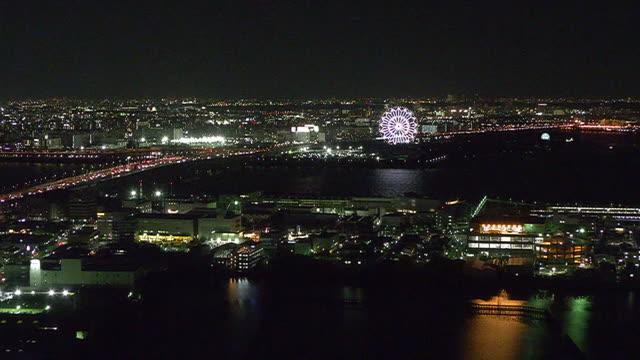 aerial, tokyo bay area around kasai, japan - tokyo bay stock videos & royalty-free footage