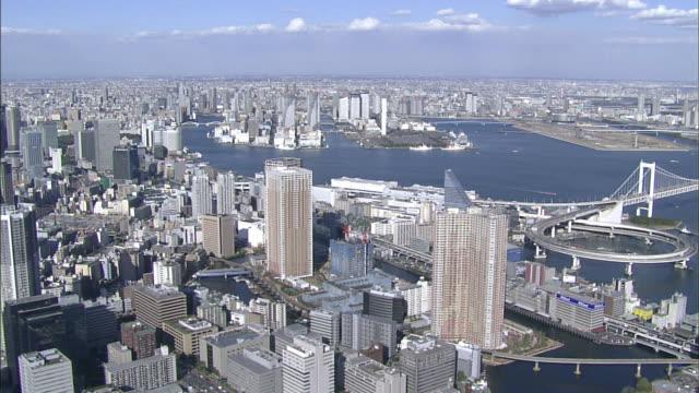 Tokyo Bay area; central Tokyo; aerial shots
