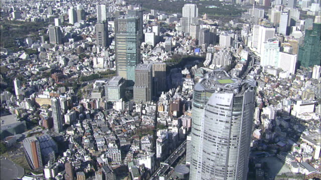 tokyo bay area; central tokyo; aerial shots - tokyo midtown stock videos and b-roll footage