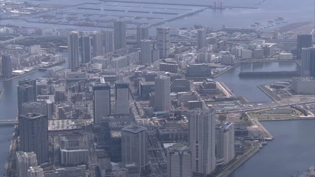 AERIAL, Tokyo Bay Area With High-Rises, Koto, Tokyo