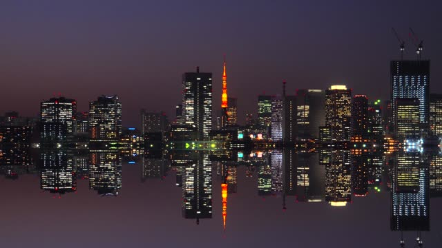 水で黄昏ミラーリングで東京湾