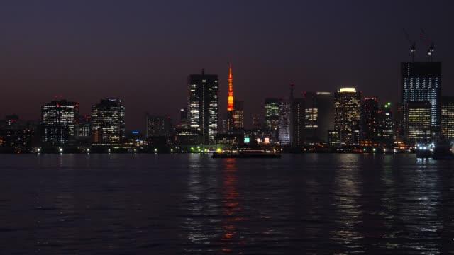 Tokyo bay at dusk, Tokyo, Japan - Tokyo Tower