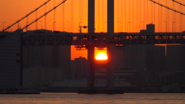 Tokyo bay at dusk, Tokyo, Japan