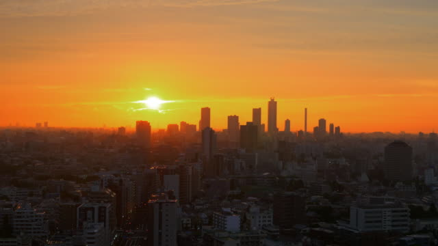 tokyo beautiful sunset - 日没点の映像素材/bロール