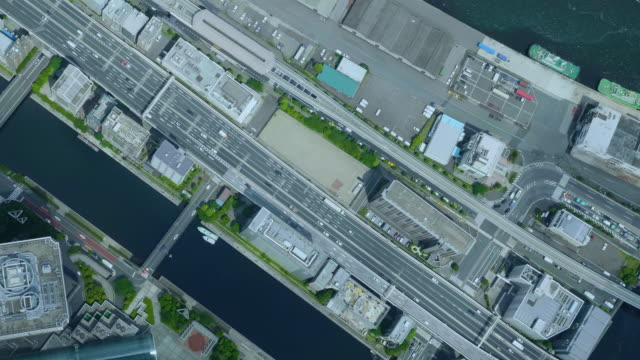 tokyo bird's eye view - 町点の映像素材/bロール
