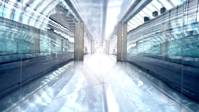 tokyo business glass tunnel time-lapse - elevated walkway stock videos & royalty-free footage
