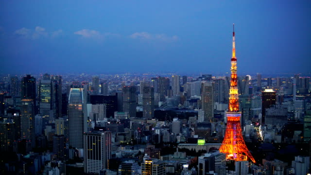 tokyo city skyline in japan - roppongi stock videos and b-roll footage