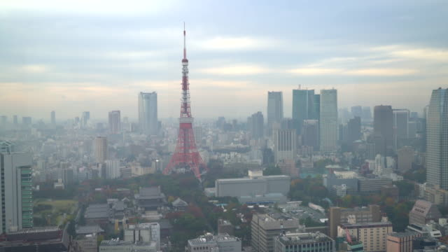 東京タワーのある東京シティのスカイライン