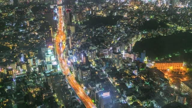 夜の東京市視点 - 主要道路点の映像素材/bロール