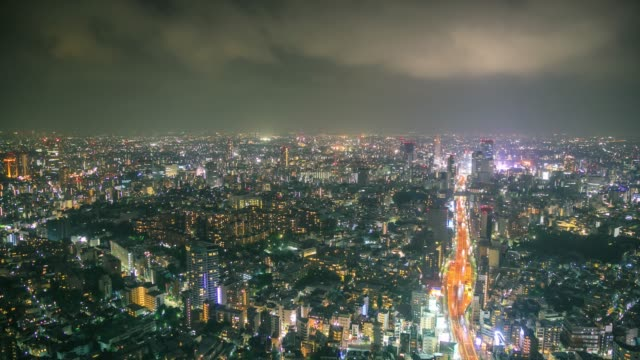 Tokyo City Viewpoint At Night