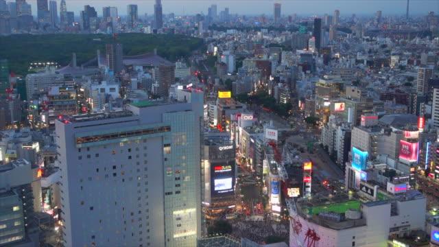 夜の時間経過による夜の東京の街並み - 夜遊び点の映像素材/bロール