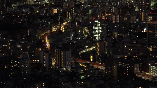 夜の東京の街並み - 夜点の映像素材/bロール