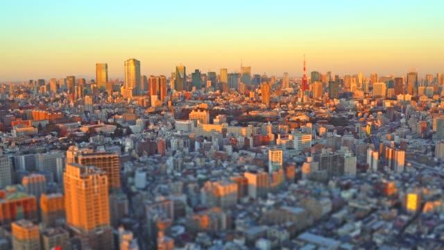 Tokyo Cityscape at sunset - Tilt-Shift