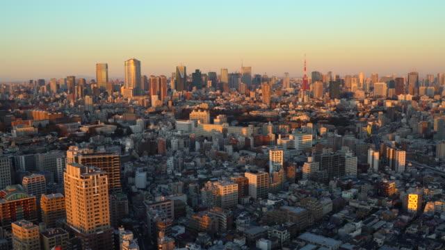 夕暮れ時の東京の街並 - 日没点の映像素材/bロール