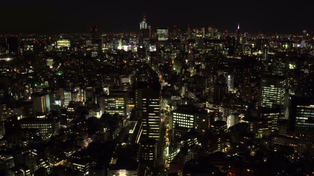vídeos de stock e filmes b-roll de tokyo cityscape at sunset - moldura completa