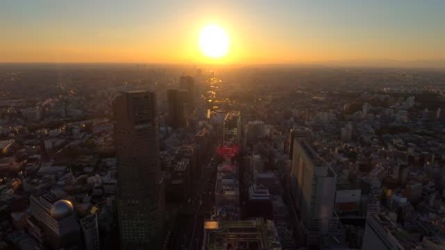 vidéos et rushes de paysage urbain de tokyo de shibuya - vitalité