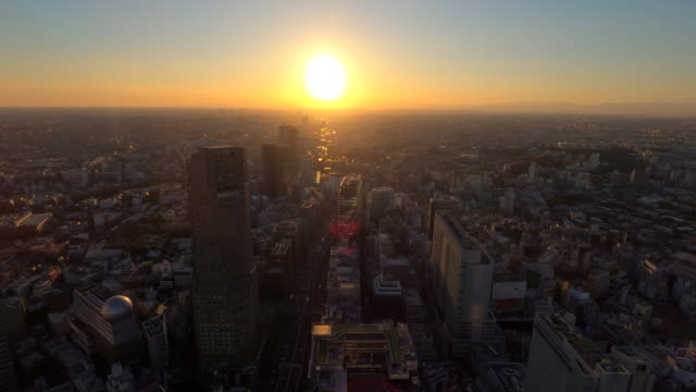 tokyo cityscape from shibuya - landscaped stock videos & royalty-free footage