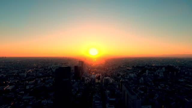 渋谷からの東京の街並み - 夕暮れ点の映像素材/bロール