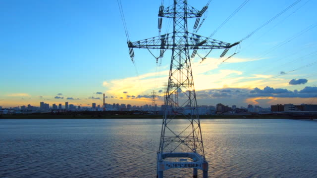 tokyo cityscape from the car window - electricity pylon stock videos & royalty-free footage