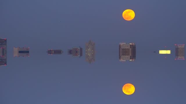 Tokyo Cityscape - Super Moon - mirror