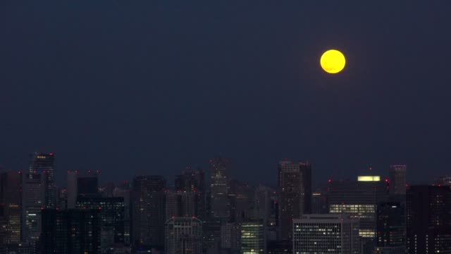 tokyo cityscape - super moon - astronomy stock videos & royalty-free footage