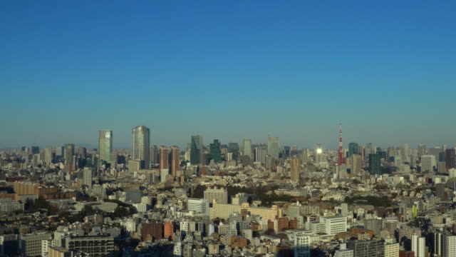 tokyo cityscape - observation point stock videos & royalty-free footage