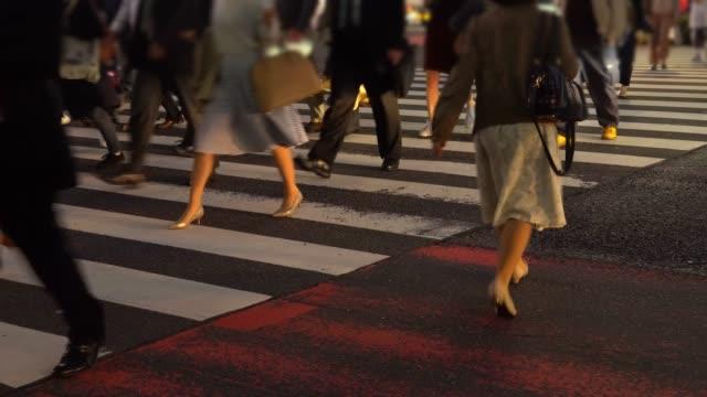 Tokyo commuters on Shinjuku crossing in Tokyo, Japan