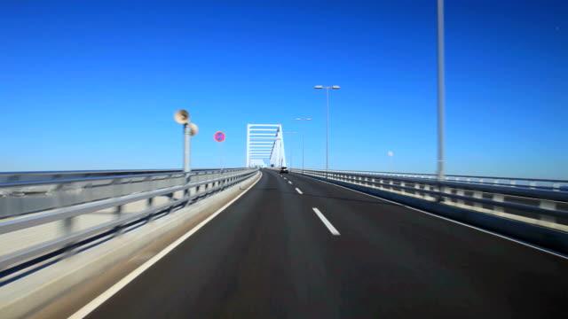 tokyo gate bridge at sunny day - satoyama scenery stock videos & royalty-free footage