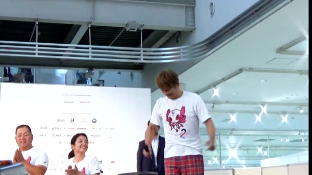 tokyo governor yuriko koike called for joining forces to stage a successful tokyo 2020 paralympics as she attended a waterfront ceremony on aug 25 to... - 式典点の映像素材/bロール