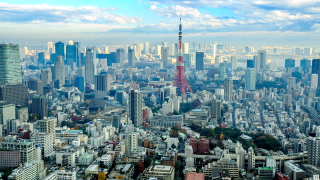 tokyo in japan - tokyo tower stock videos and b-roll footage