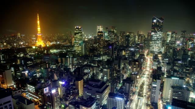 Tokyo Japan at night time lapse
