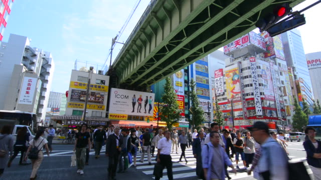 tokyo japan modern high tech area called akihabara area to sell computer items and cartoon type games called electric town video games anime manga popular icons - manga style stock videos & royalty-free footage