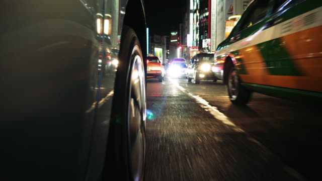 tokyo japan night traffic - tyre stock videos & royalty-free footage