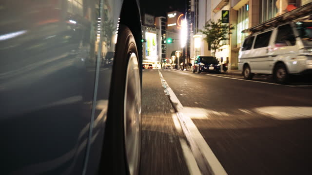 tokyo japan night traffic - low angle view stock videos & royalty-free footage