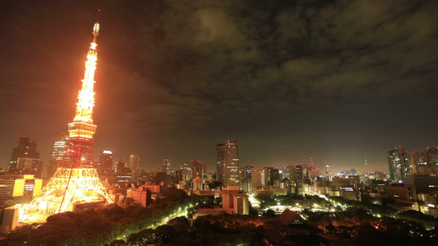 Tokio, Japan: Sonnenaufgang Zeitraffer