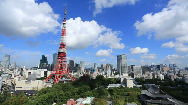 tokyo, japan - tokyo tower stock videos and b-roll footage