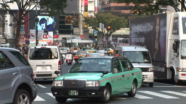 tokyo, japanbusy city street in tokyo japan - railroad car stock videos and b-roll footage