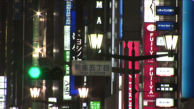 tokyo, japanclose-up of signs in tokyo japan - road signal stock videos & royalty-free footage